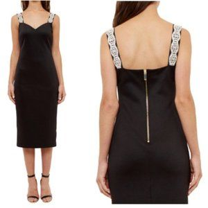 Ted Baker Mally Embellished Strap Bodycon Dress